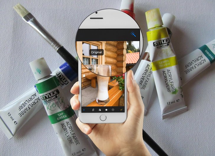 iPhone Foto vorher nachher Vergleich App bearbeiten aufhellen verstärken Farben speichern 6