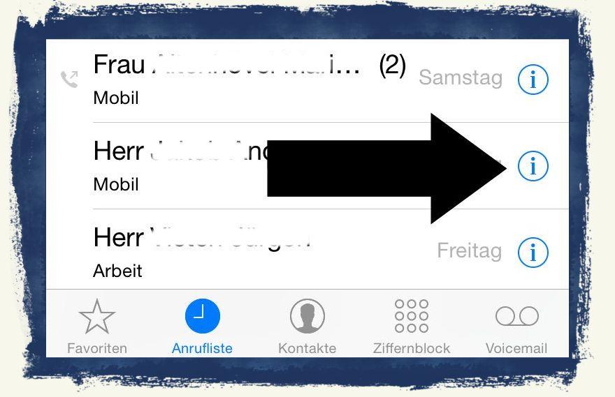 iPhone Lästige Anrufer sperren blockieren 1