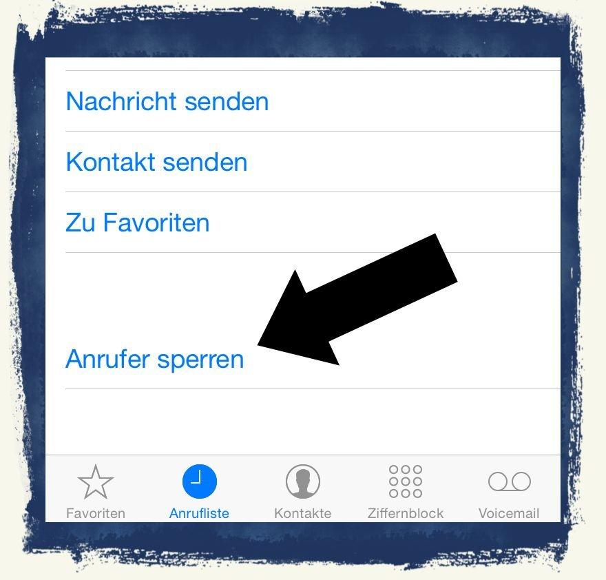 iPhone Lästige Anrufer sperren blockieren 2