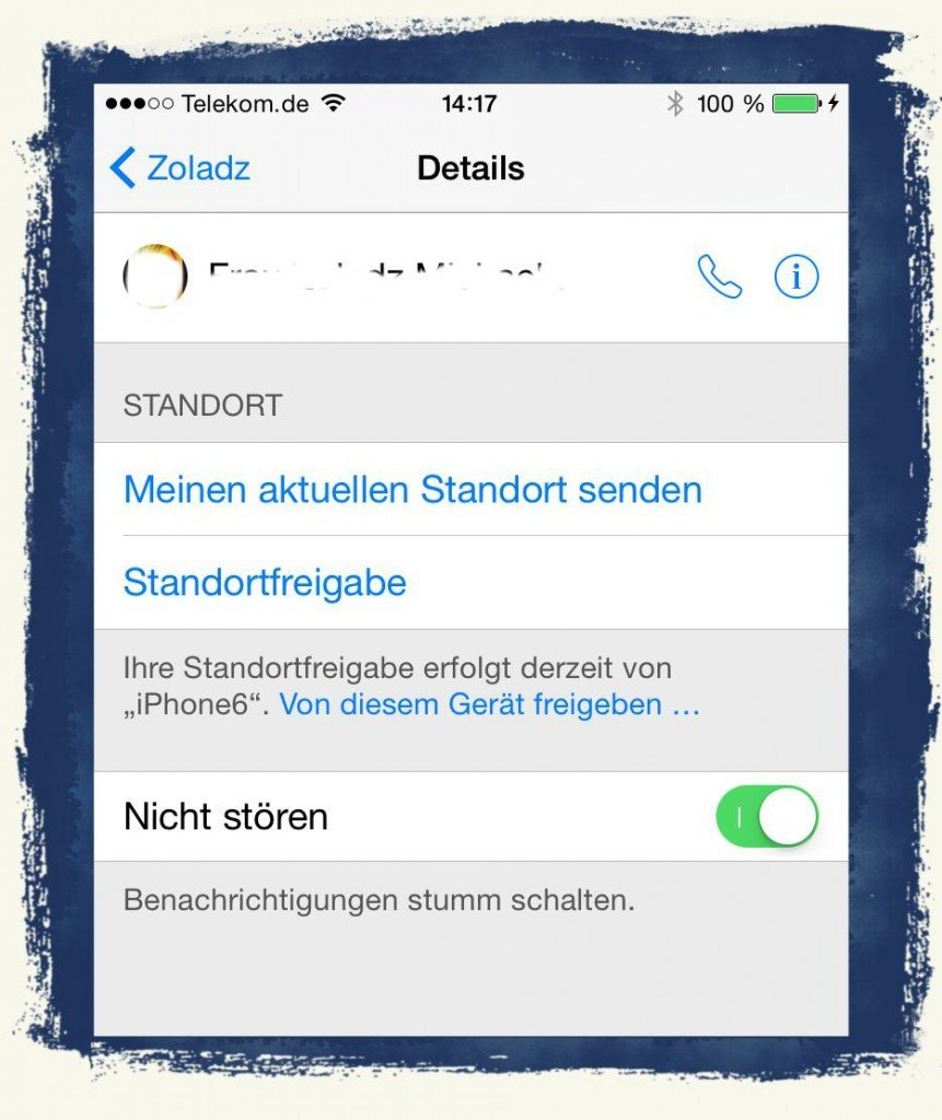 iPhone,SMS,sperren,Signal,signalisieren,stören,nicht stören,Ruhe,ausschalten