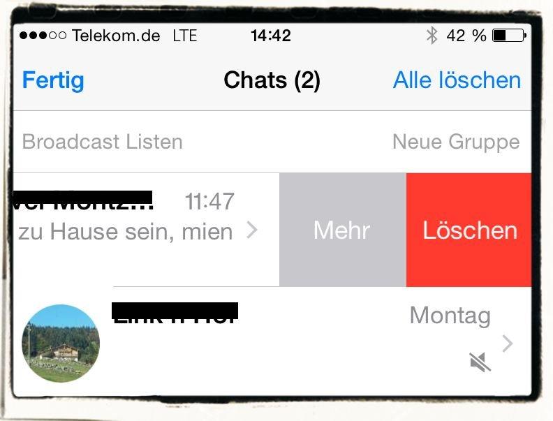 iPhone,WhatsApp,Aufräumen,Chat,Archivieren,Löschen 3