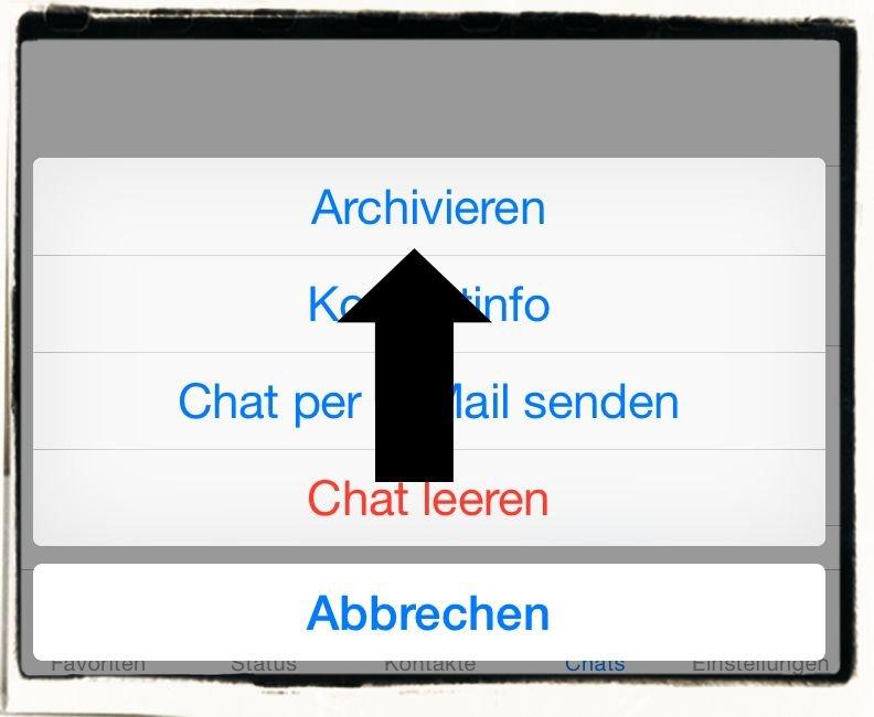 iPhone,WhatsApp,Aufräumen,Chat,Archivieren,Löschen 4
