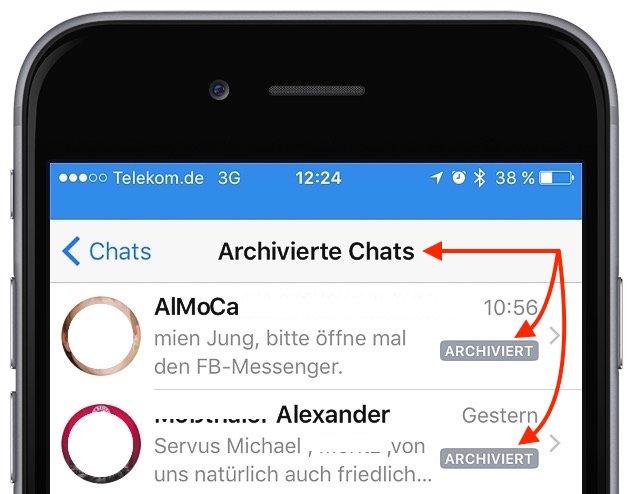Archivierte WhatsApp-Nachrichten auf dem iPhone wieder herstellen 2