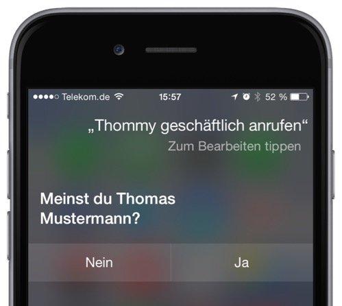 Siri,Spitzname,Rufname,Anruf,telefonieren 1
