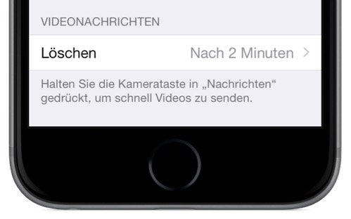 Video-Nachricht,Bild-Nachricht,Film,SMS,iMessage,iPhone,gelöscht,verschwunden,Zeitspanne,2 Minuten,30 Tage 1