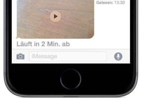 Video-Nachricht,Bild-Nachricht,Film,SMS,iMessage,iPhone,gelöscht,verschwunden,Zeitspanne,2 Minuten,30 Tage BB