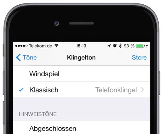 iPhone Klingelton ändern 2