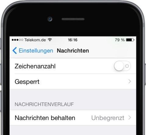 iPhone,App,Nachrichten.SMS,iMessage,Speicher,löschen,automatisch,Einstellungen 2