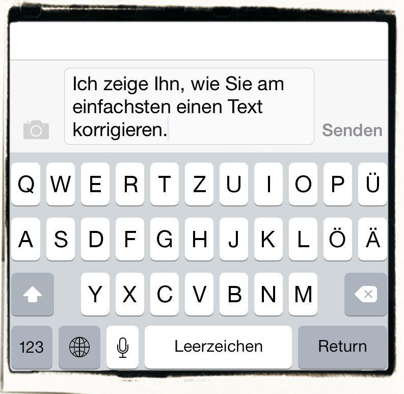 iPhone,E-Mail,SMS,iMessage,korrigieren,Schreibmarke,Cursor,Vertippt,Fehler,Zurück,Zurück-Taste 1