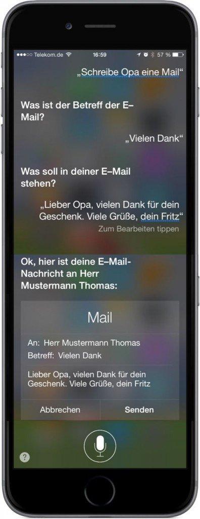 iPhone,Mail,Siri,Spitzname,Rufname,senden 1