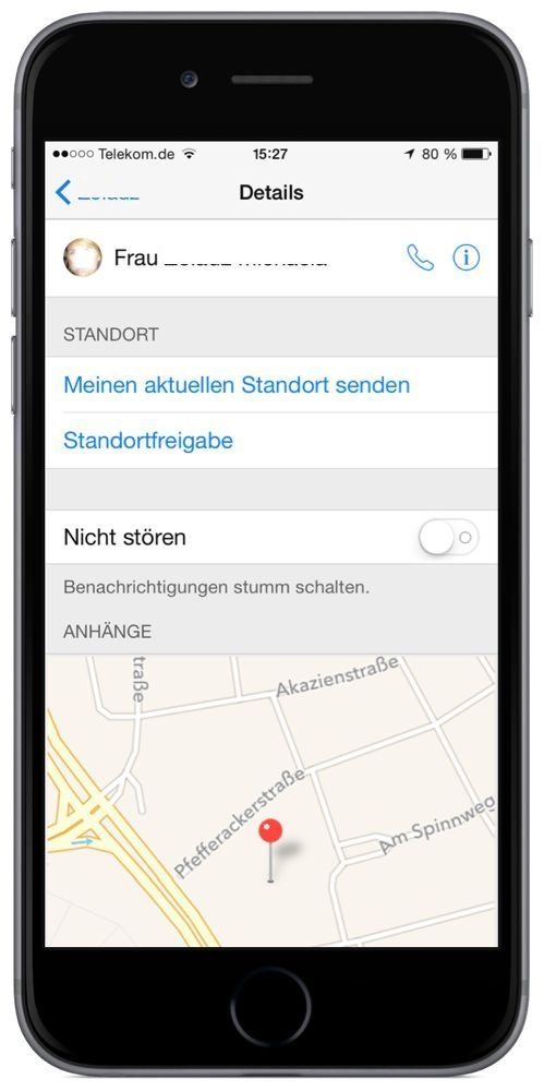 iPhone,Nachrichten,SMS,App,iMessage,Aktuellen Standort,senden 1