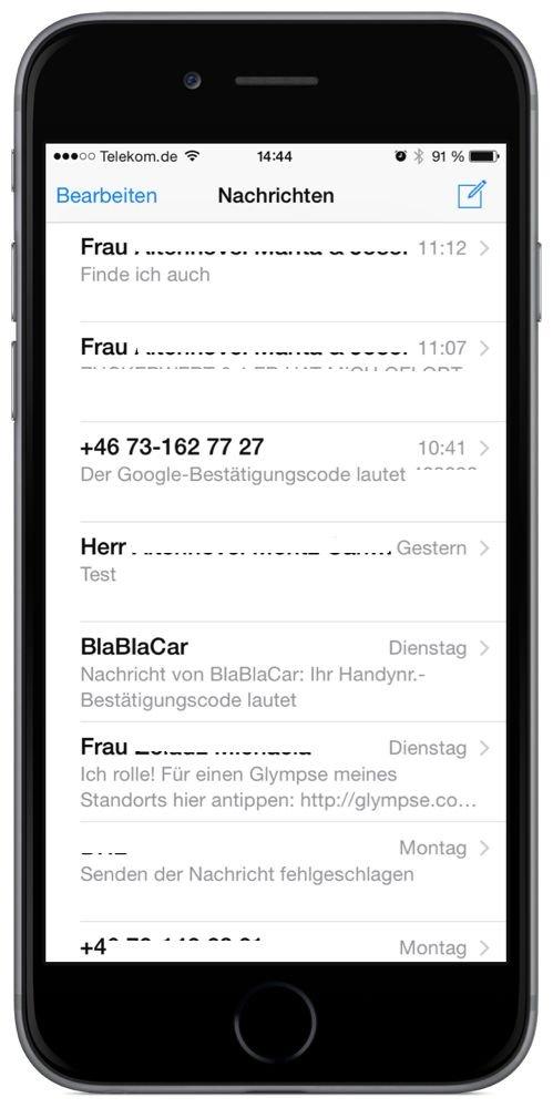 iPhone,SMS,iMessage,Selfie,Selbstportrait,Selbstbildnis,senden 1