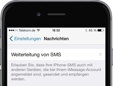 iPhone,iPad,SMS,iMessage,umleiten,weiterleiten,synchronisieren 1
