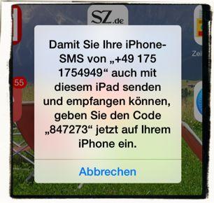 iPhone,iPad,SMS,iMessage,umleiten,weiterleiten,synchronisieren 3