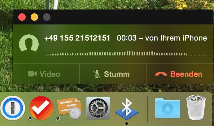 Apple Mac MacBook Telefon WLAN annehmen Lautsprecher abweisen auflegen 2
