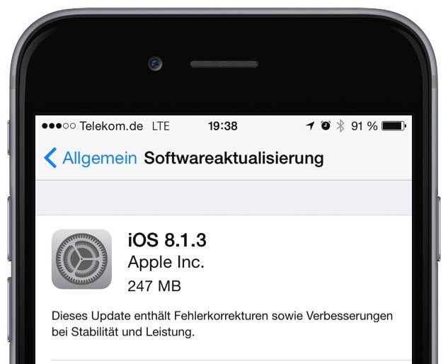 Apple iOS 8.1.2 iOS 8.1.3 Update iPhone iPad