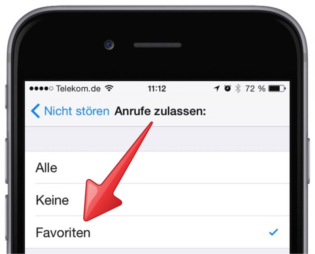Ausnahme iPhone  Klingeln Nachtruhe Ruhe signalisieren nicht stören 2