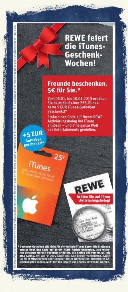 REWE iTunes Geschenkkarte,Rabatt,Prozent 1