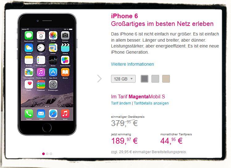 T-Mobil Deutsche Telekom Magenta Tarif iPhone Rabatt 5s 6 6plus 1