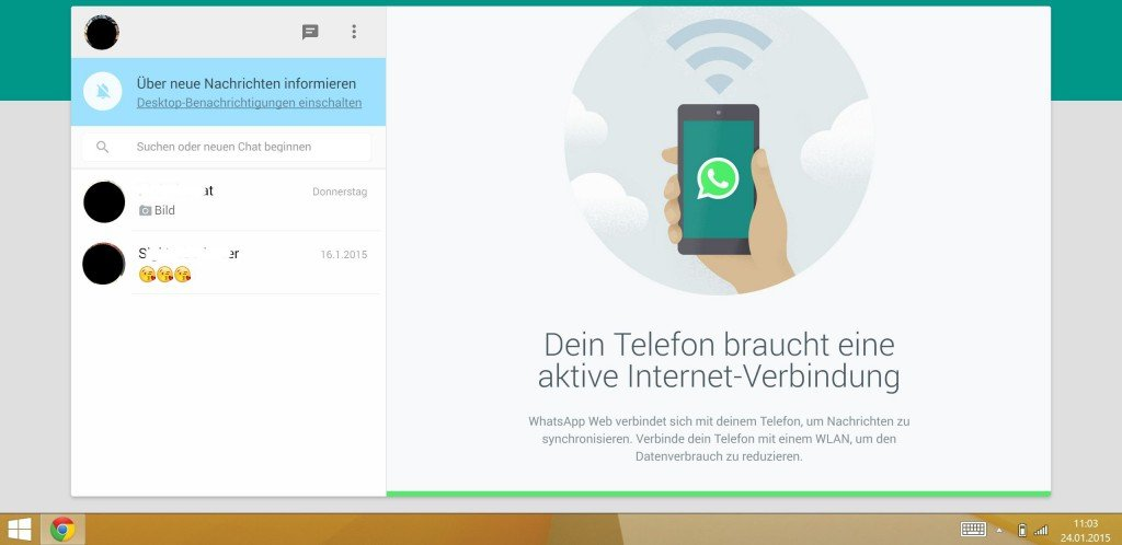 WhatsApp Web Android Windows-Phone iOS Barcode QR-Code synchronisieren spiegeln iPhone 4