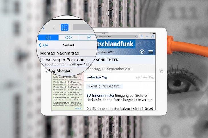 iPad Safari Leseliste Datenschutz löschen 1