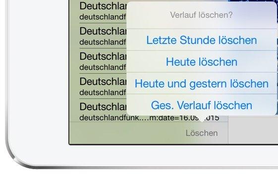 iPad Safari Leseliste Datenschutz löschen 4