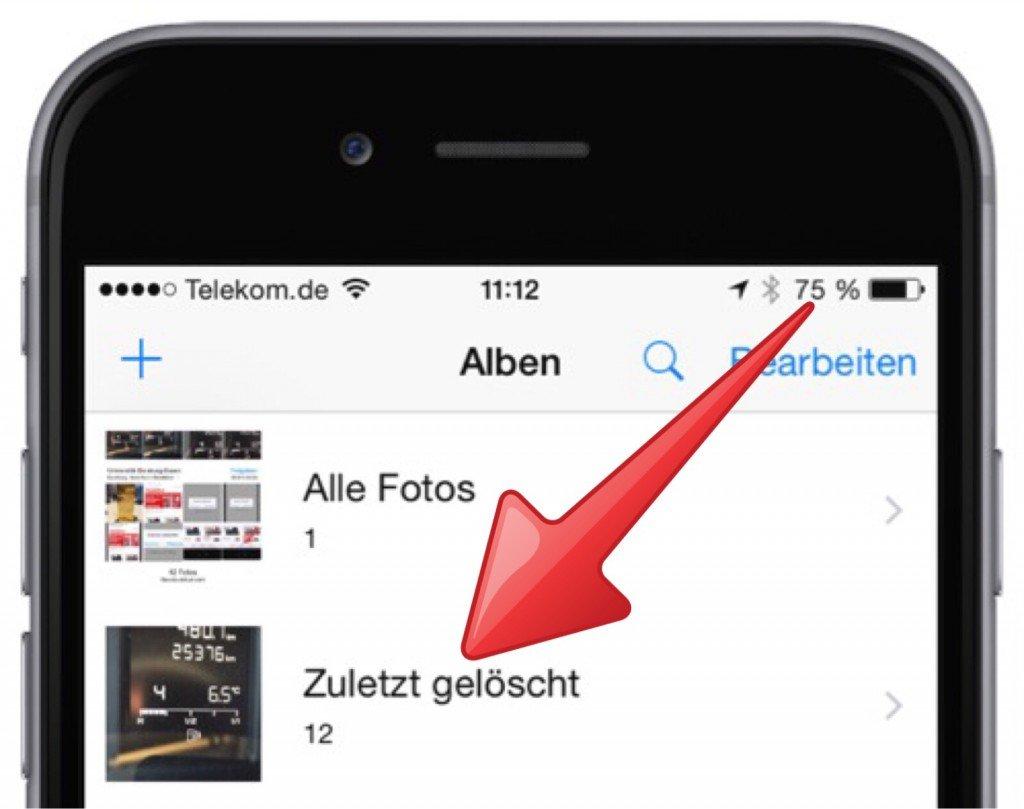 iPhone Foto Bild gelöscht versehentlich löschen retten wiederherstellen widerrufen 2