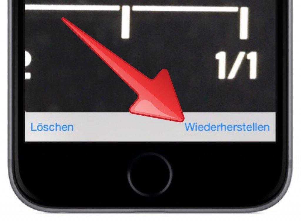 iPhone Foto Bild gelöscht versehentlich löschen retten wiederherstellen widerrufen 3