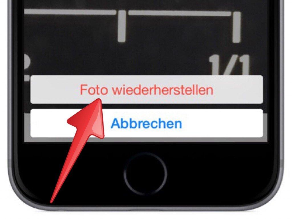 iPhone Foto Bild gelöscht versehentlich löschen retten wiederherstellen widerrufen 4