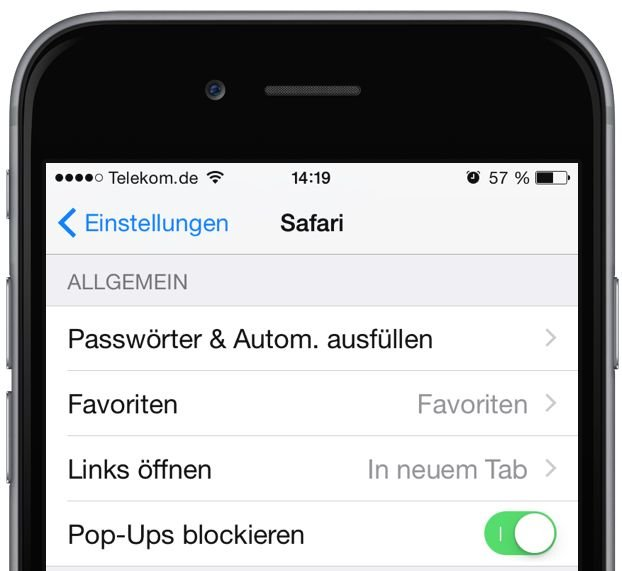iPhone Kreditkarte iOS8 scannen Einkauf 1