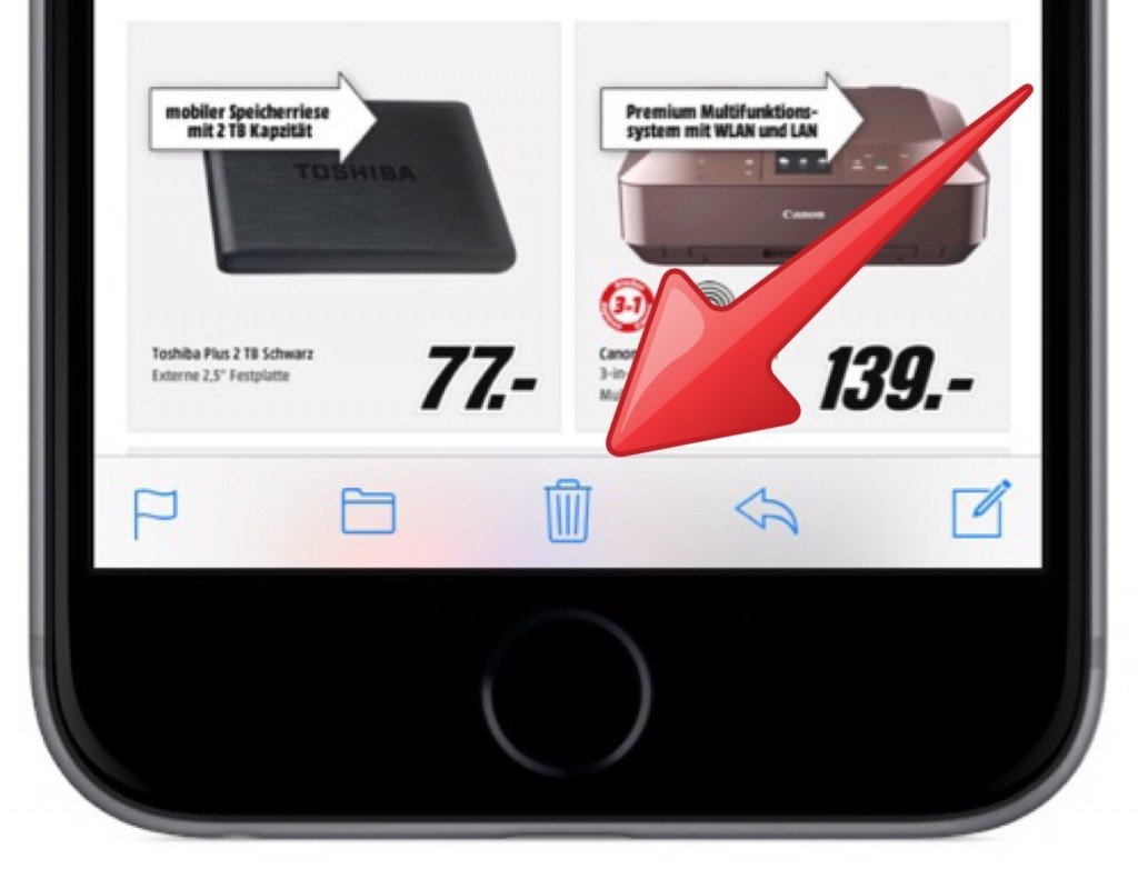 iPhone Mail gelöscht löschen retten wiederherstellen widerrufen 1