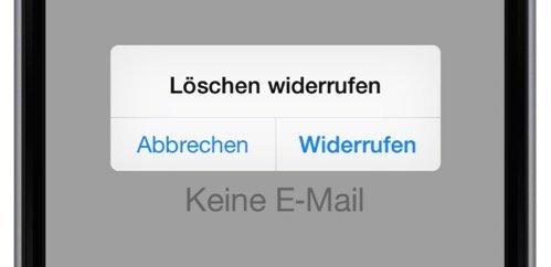 iPhone Mail gelöscht löschen retten wiederherstellen widerrufen BB
