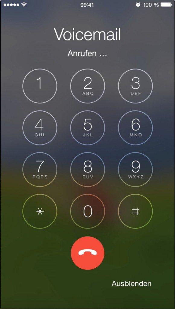 iPhone Voicemail Anrufbeantworter Sprachbox Mobilbox Provider abhören anhören 1