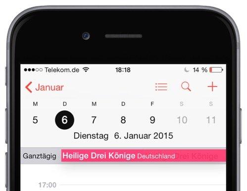 iPhone,Kalender,Wochennummer,Kalenderwoche,KW,anzeigen 1