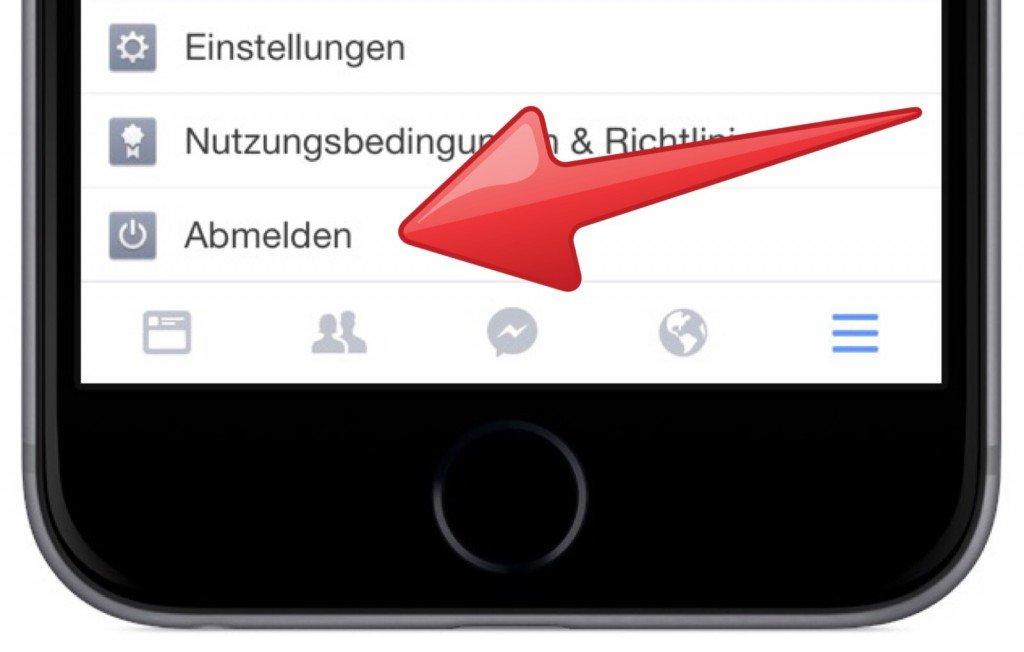 Facebook App iPhone Sitzung abmelden ausloggen 2