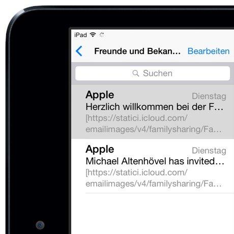 iPad Mail gelesen ungelesen Markierung Wischgeste 1