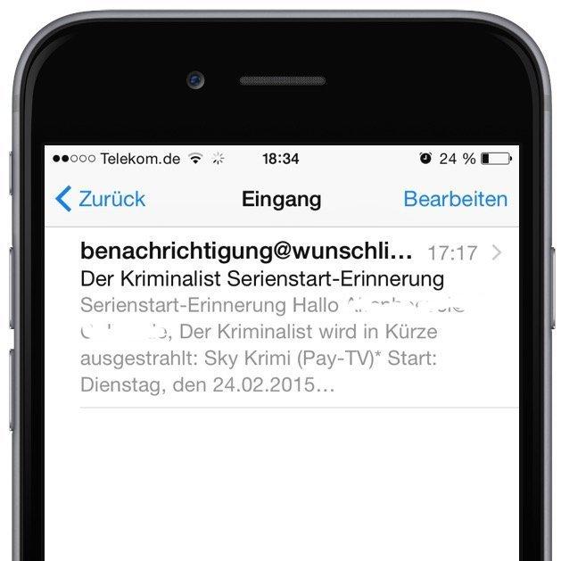 iPhone Mail gelesen ungelesen Markierung Wischgeste 1