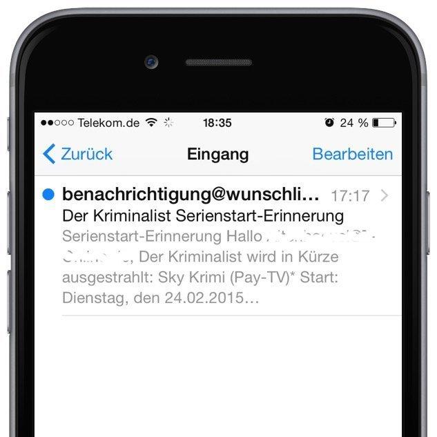 iPhone Mail gelesen ungelesen Markierung Wischgeste 3