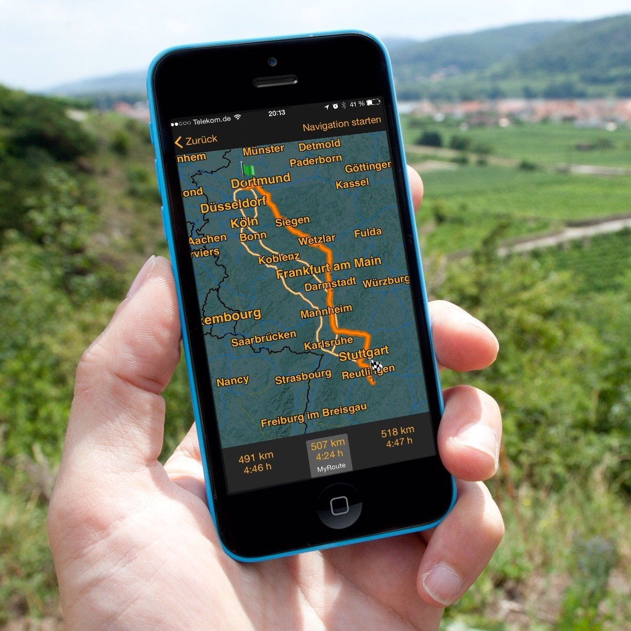 iPhone-Navigation-Route-Google-Maps-Karten-NAVIGON-4.jpg