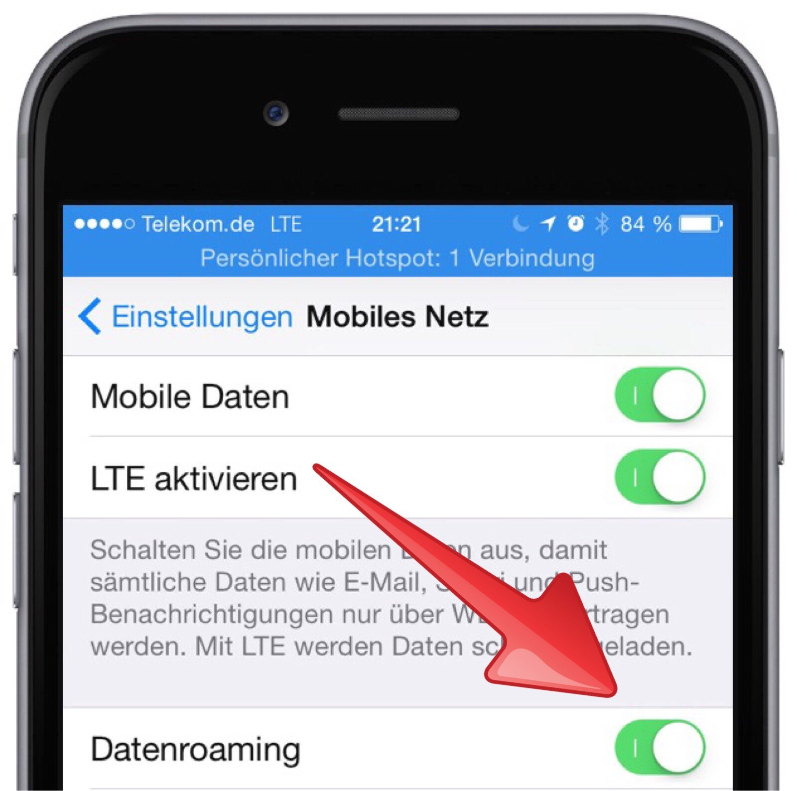 how to cancel roaming on iphone