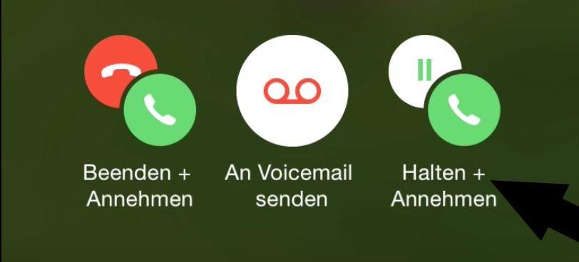 iPhone Telefon Dreierkonferenz Anruf Gespräch Makeln 2