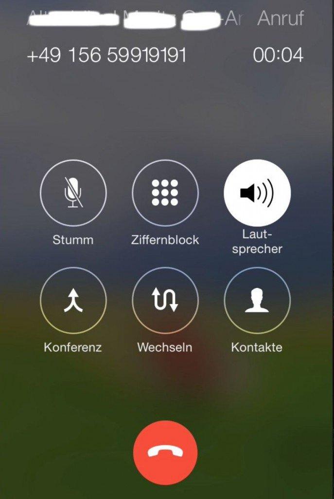 iPhone Telefon Dreierkonferenz Anruf Gespräch Makeln 3