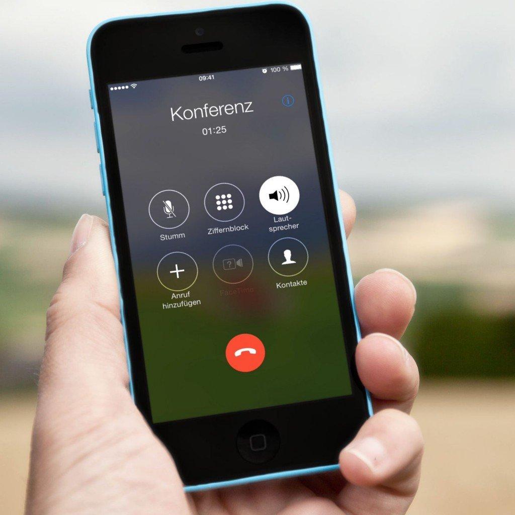 iPhone Telefon Dreierkonferenz Anruf Gespräch Makeln BB