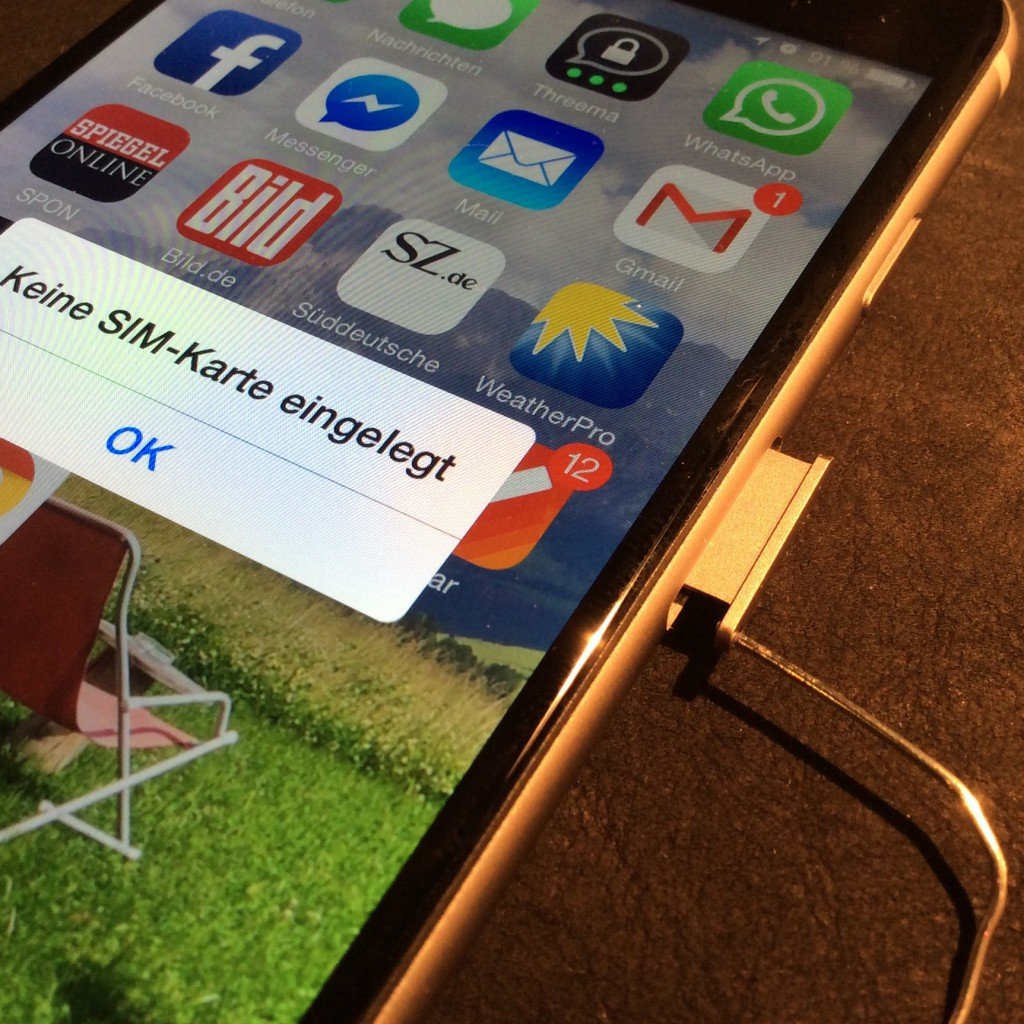 iPhone iPad SIM-Karte Schlitten Stimmgabel verloren verlegt ersetzen
