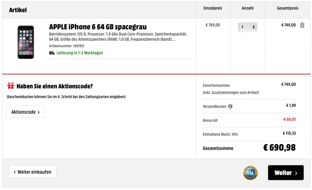 Apple MediaMarkt Bonus Rabatt Prozent Nachlass iPhone iPad iMac Mac 2
