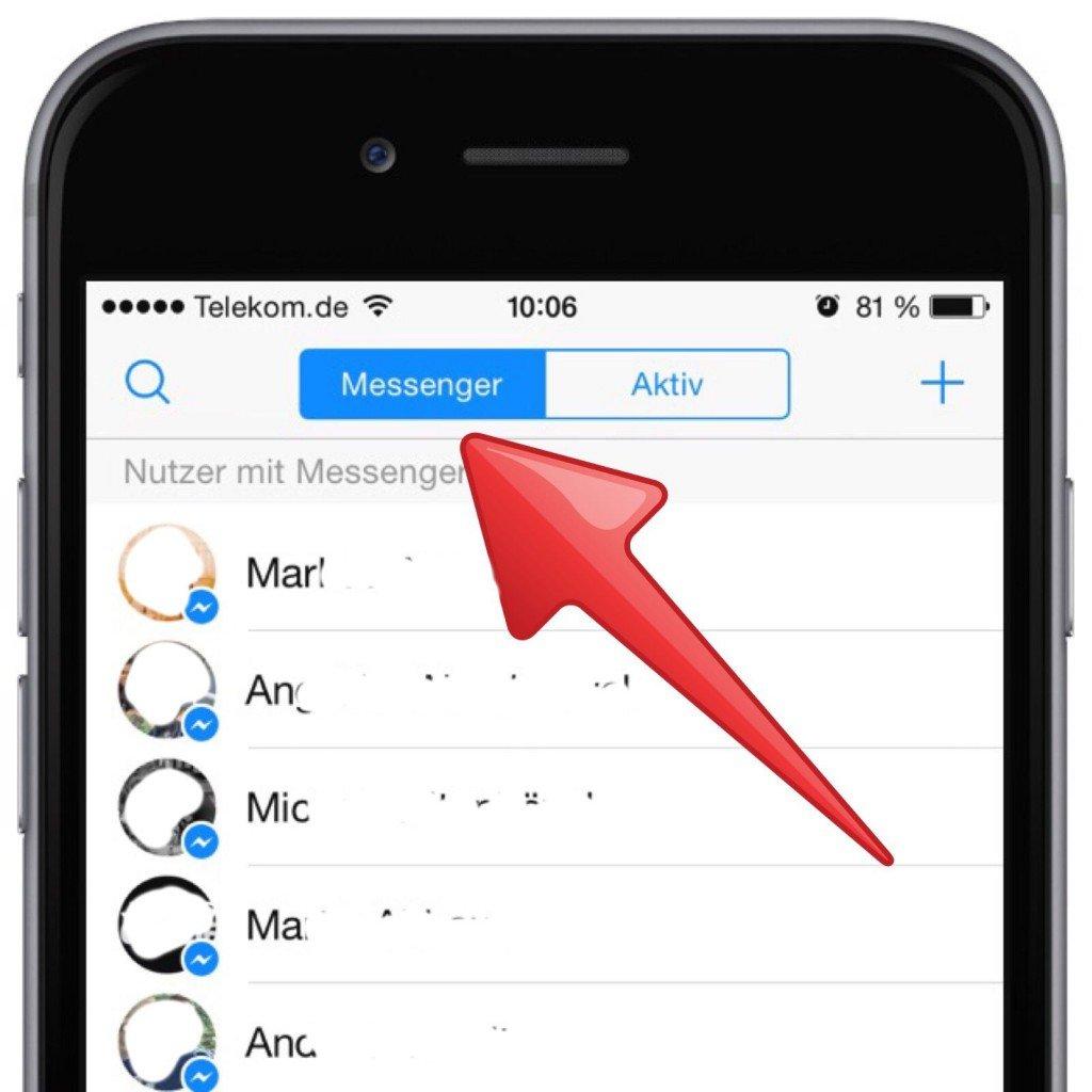 Facebook Messenger Online Status checken prüfen iPhone 2