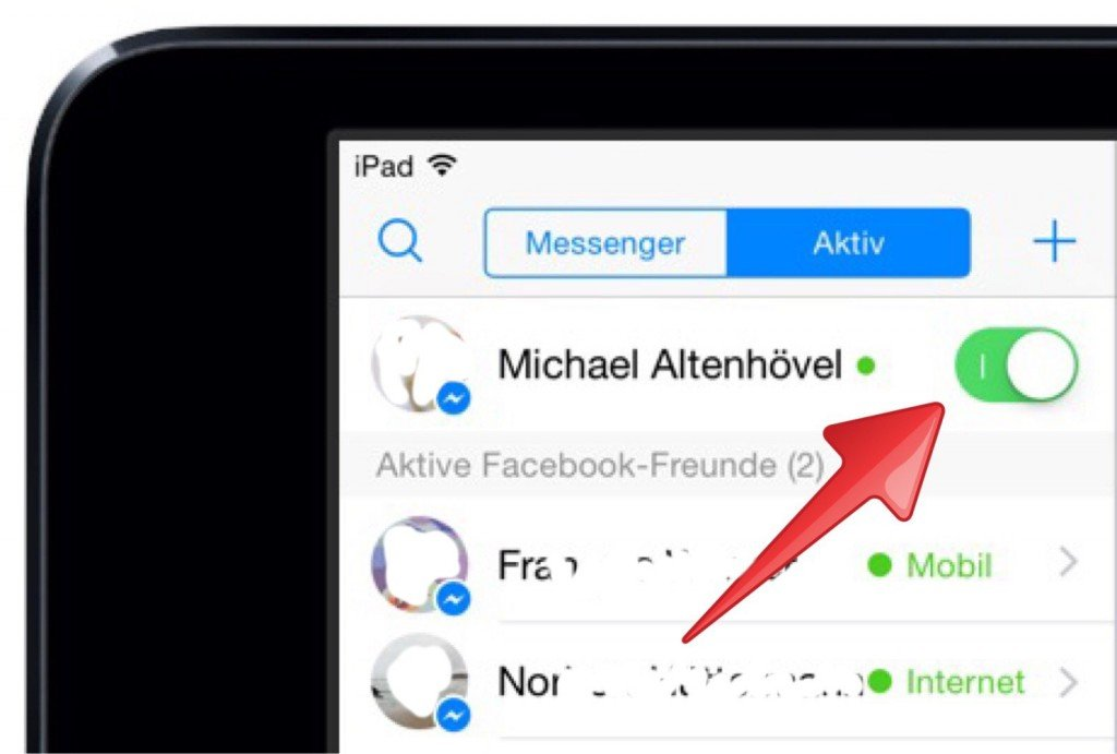 Facebook Messenger iPad Datenschutz Online Status verbergen sperren 2