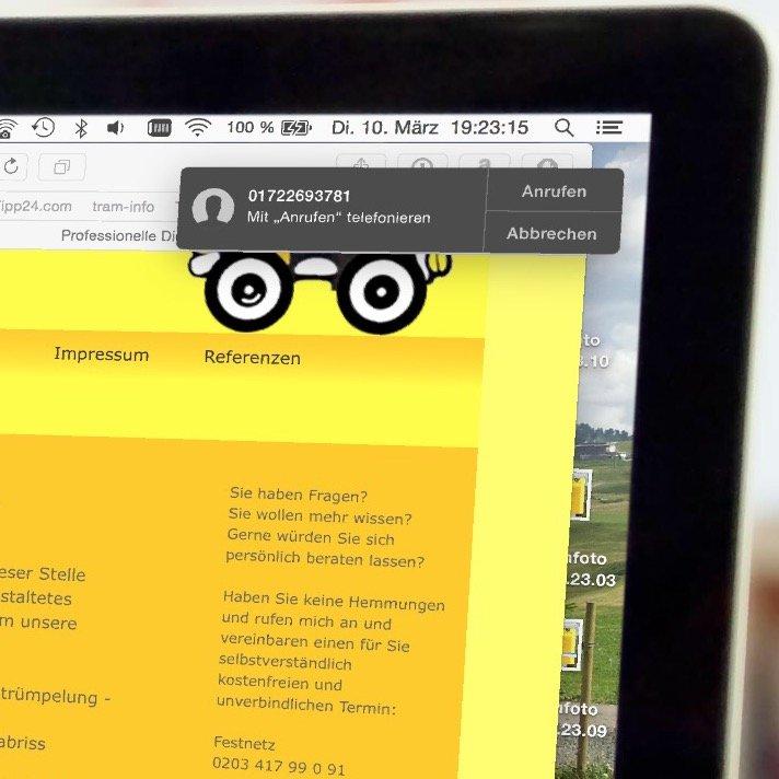 Mac Book Air Pro iPhone Safari Anruf übergeben 3