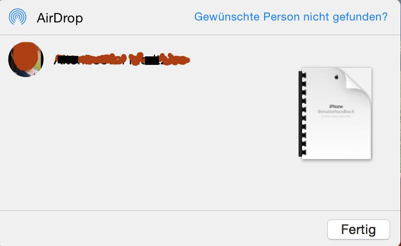 Mac iPhone PDF Dolkument AirDrop übertragen WLAN Bluetooth schnurlos 2