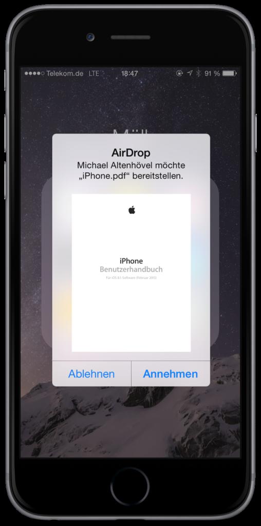 datei von iphone auf mac übertragen